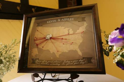 Destination Wedding Map gift